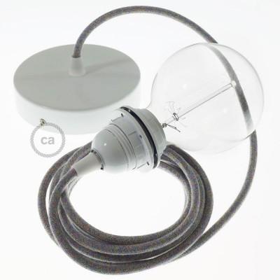 Lampe suspension pour Abat-jour câble textile Coton Lollipop RX09