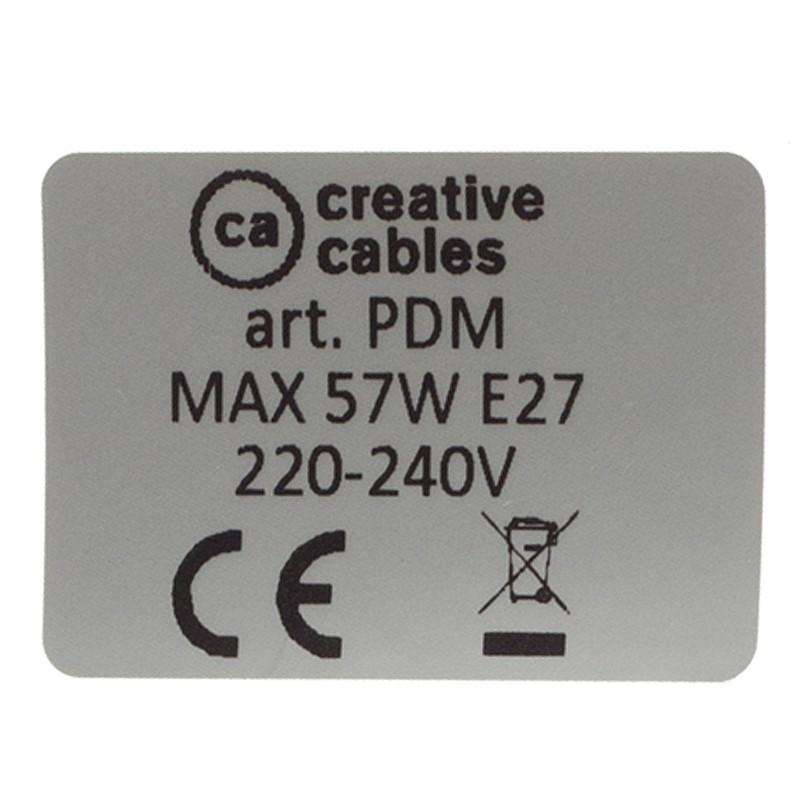 Lampe suspension pour Abat-jour câble textile Coton Bicolore Vieux Rose et Gris RP26