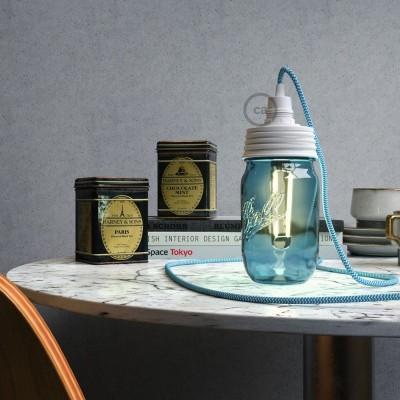 kit clairage bocal en verre creative cables belgium sprl. Black Bedroom Furniture Sets. Home Design Ideas