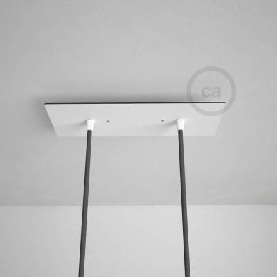 Rechthoekige 30x12 cm XXL plafondplaat met 2 gaten + accessoires