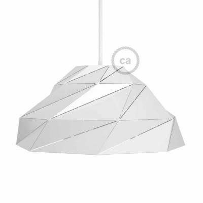 Abat-jour Nuvola en métal blanc brillant avec douille E27