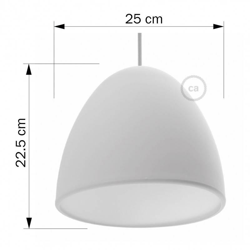 Abat-jour en silicone azur complet de diffuseur et serre-câble. Diamètre 25 cm.