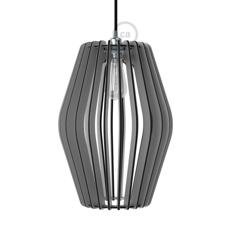 Lampenkap in Dibond, kleur aluminium, Pregia Rombo