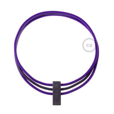 Collier Circles couleur Violet RM14 et Noir RM04.