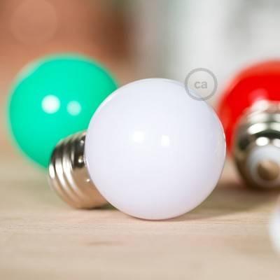 Decorative G45 Miniglobe LED bulb 1W E27 2700K - Milk-white