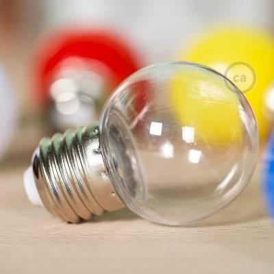 Decorative G45 Miniglobe LED bulb 1W E27 2700K - Transparent