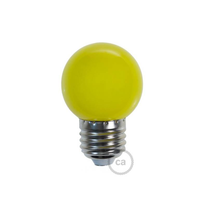 Decorative G45 Miniglobe LED bulb 1W E27 2700K - Yellow