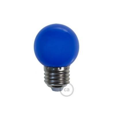 Decorative G45 Miniglobe LED bulb 1W E27 2700K - Blue