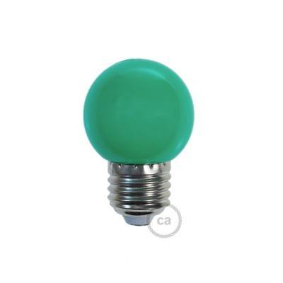 Ampoule décorative G45 Mini Globe LED 1W E27 2700K - Vert
