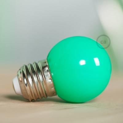 Decorative G45 Miniglobe LED bulb 1W E27 2700K - Green
