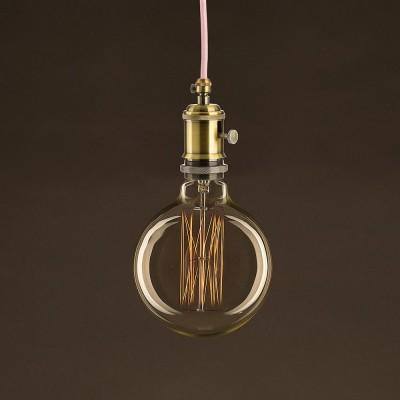Ampoule Vintage Dorée Globe G125 Filament Carbone en cage 30 W E27 Dimmable 2000K