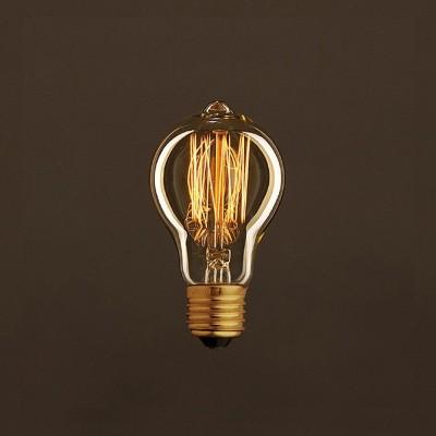 Ampoule Vintage Dorée Goutte A60 Filament Carbone en cage 30 W E27 Dimmable 2000K