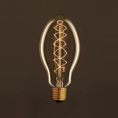 Ampoule Vintage Dorée Bougie E75 Filament Carbone en double spirale 30 W E27 Dimmable 2000K