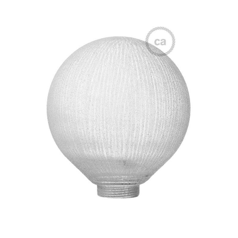 Ampoule Modulaire décorative G125 verre Blanc à Lignes Verticales.