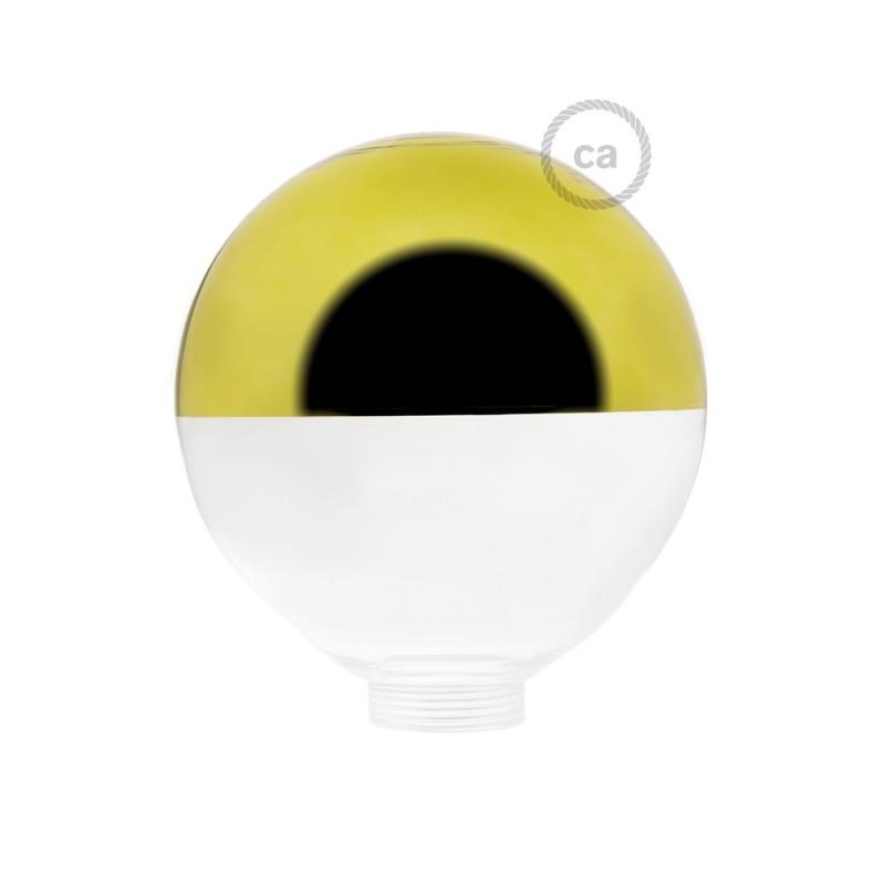 Ampoule Modulaire décorative G125 verre Demi Sphère Or.