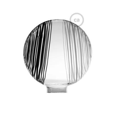 Ampoule Modulaire décorative G125 Blanche à Cercles Noirs et Blancs.