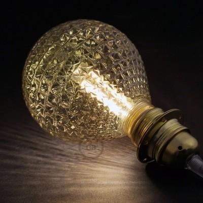 Modulaire lichtbron G125 bruin en 5W E27 dimbare LED 2700K