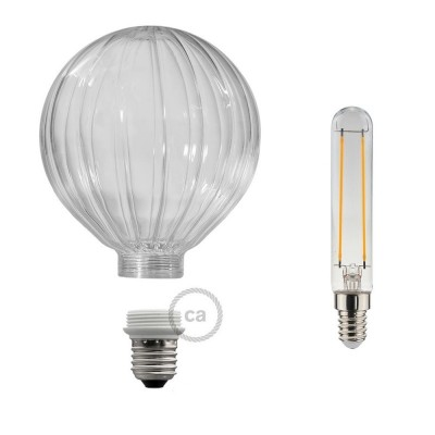 Ampoule Modulaire Décorative LED G125 Ballon Transparent 5W E27 Dimmable 2700K.