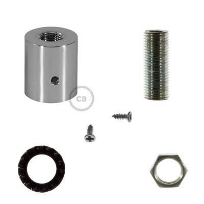 Design chromen aan- of afsluit dop voor Creative-Tube elektrabuis - met afmontage accessoires