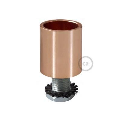Design koperen aan- of afsluit dop voor Creative-Tube elektrabuis - met afmontage accessoires