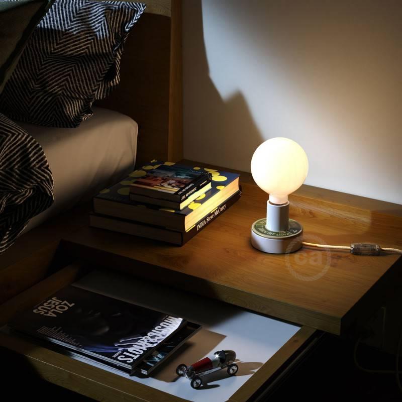 MINI-UFO en bois double-face collection READING BALLSH*T, mod. LOVE READING + 2 PAGES