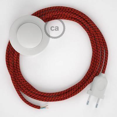 Cordon pour lampadaire, câble RT94 Effet Soie Red Devil 3 m. Choisissez la couleur de la fiche et de l'interrupteur!