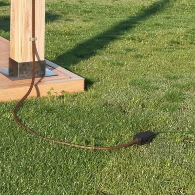Boîte de conjonction pour guirlandes avec adaptateur pour câbles ronds et plats