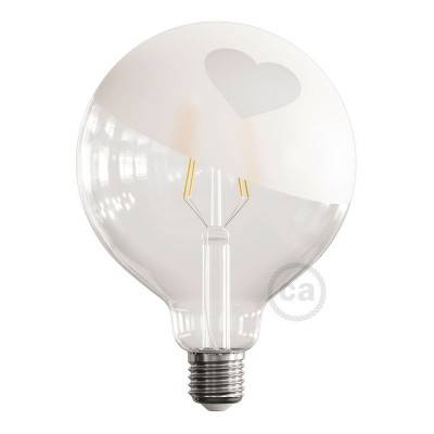 Ampoule LED Globe G125 Filament Court Version Tattoo Lamp® Modèle Cuore 4W E27 2700K