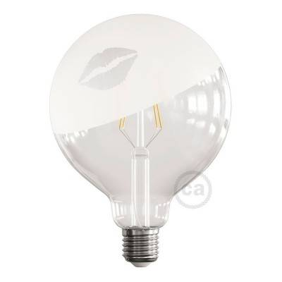 Ampoule LED Globe G125 Filament Court Version Tattoo Lamp® Modèle Kiss 4W E27 2700K