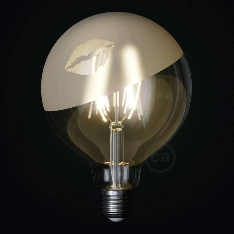 LED lichtbron Globe G125 gebogen LED spiraal – Tattoo Lamp® Kiss 4W E27 2700K
