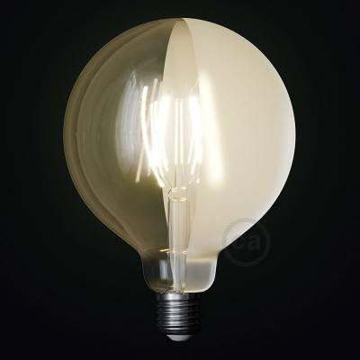 LED lichtbron Globe G125 gebogen LED spiraal – Tattoo Lamp® Half 4W E27 2700K