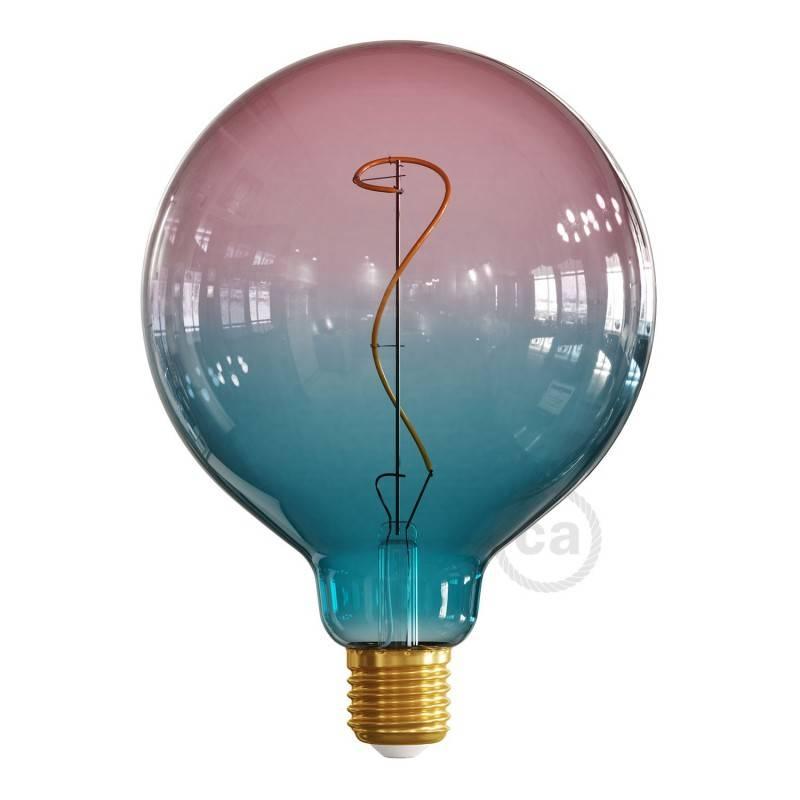 Ampoule LED Globo G125 série Pastel, couleur Rêve (Dream), filament liane 4W E27 Dimmable 2200K