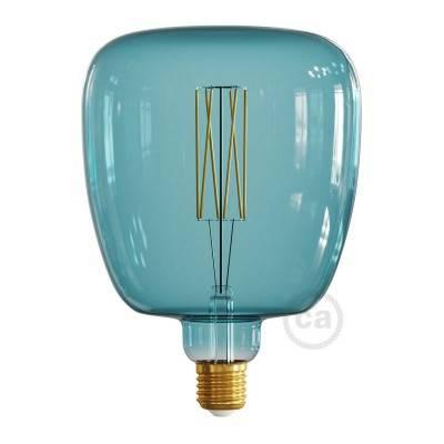 Bona Ocean blue met recht filament 4W E27 dimbaar 2200K