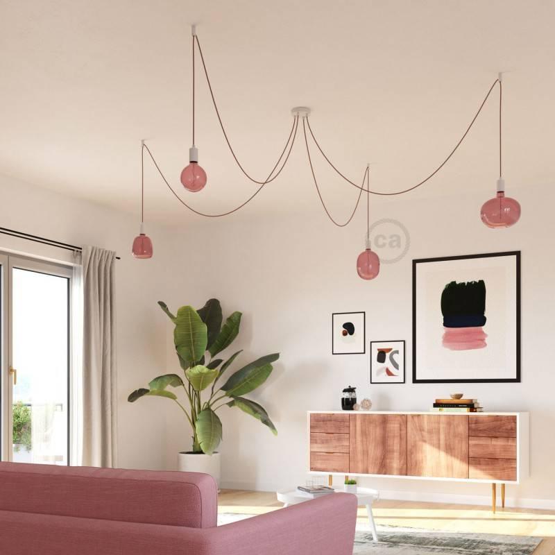 Ampoule LED Egg série Pastel, Rose Poudré (Berry Red), filament liane 4W E27 Dimmable 2200K