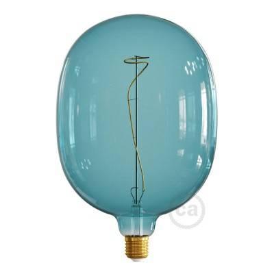 Egg Ocean blue met wijnstok filament 4W E27 dimbaar 2200K