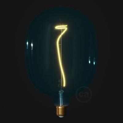 Ampoule LED Egg série Pastel, Bleu Océan (Ocean Blue), filament liane 4W E27 Dimmable 2200K