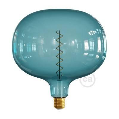 Ampoule LED Cobble série Pastel, Bleu Océan (Ocean Blue), filament spirale 4W E27 Dimmable 2200K