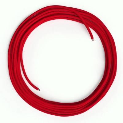 Câble Lan Ethernet Cat 5e sans connecteurs RJ45 - RM09 Effet Soie Rouge