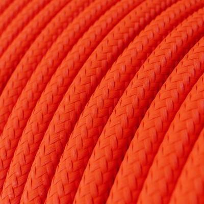 LAN Ethernet Cable Cat 5e without RJ45 plugs - Rayon Fabric RF15 Neon Orange
