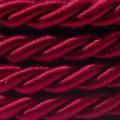 Corde XL, câble électrique 3x0,75. Revêtement en tissu bordeaux foncé brillant. Diamètre 16mm.