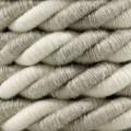 Electrische XL touwkabel, 3 x 0,75 mm. Binnenkabels bedekt met textiel, katoen en natuurlijk linnen. Diameter 16 mm.