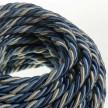 Corde XL, câble électrique 3x0,75. Revêtement en tissu lucide Bernadotte. Diamètre 16mm.