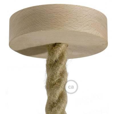Houten plafondkap kit voor 2XL snoer