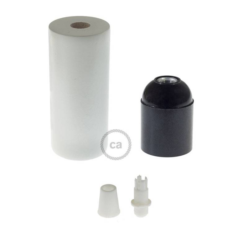Houten E27 fittinghouder kit voor XL strijkijzersnoer