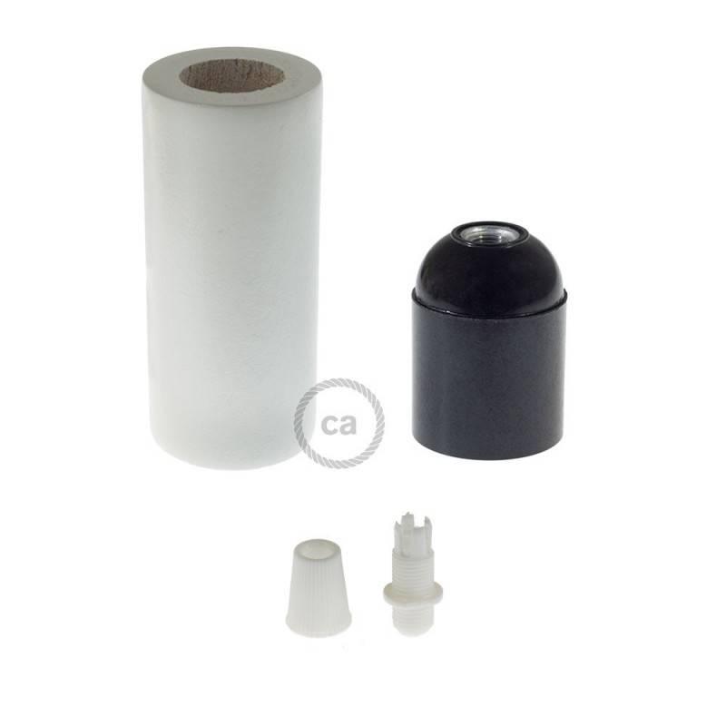Houten E27 fittinghouder kit voor 3XL snoer