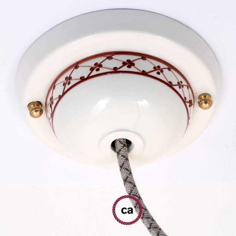 Kit rosace céramique avec Decoro 82-Edera