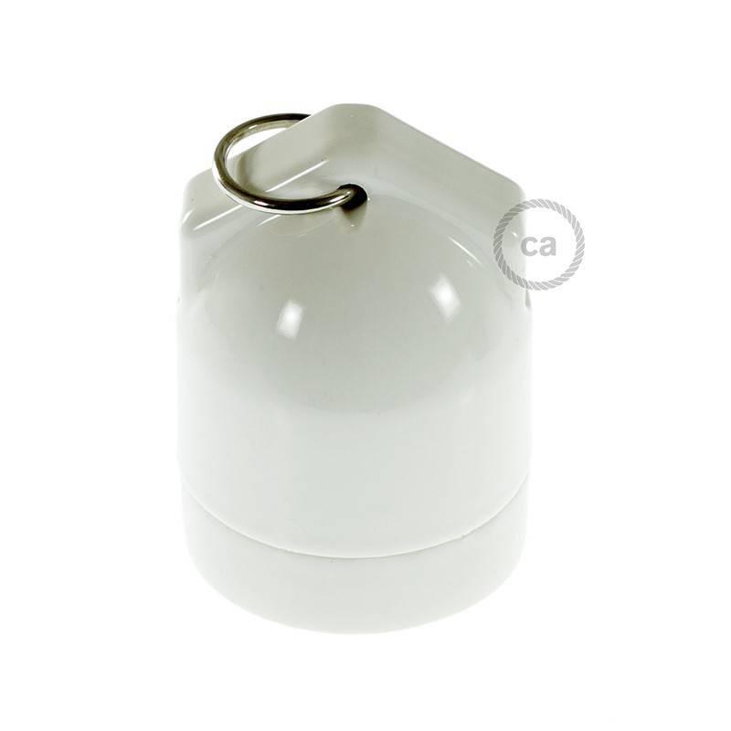 Kit douille E27 en porcelaine avec double entrée