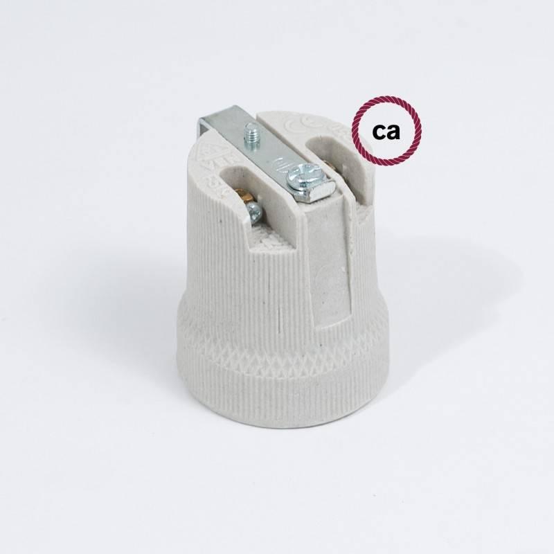 Porselein E27 fitting met beugel