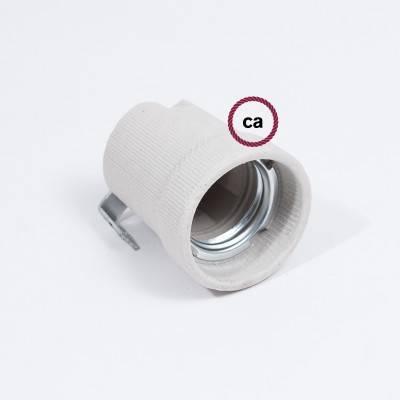 Kit douille en porcelaine E27 avec support intérieur
