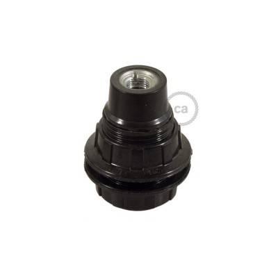 Bakeliet E14 fitting voor lampenkap met 2 schroefringen